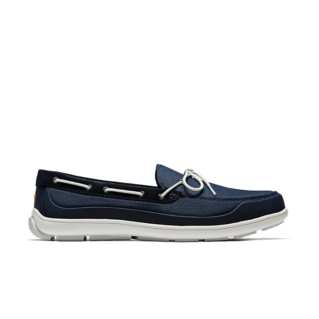 GEORGE SUMMER LACE LOAFER - NAVY/WHITE