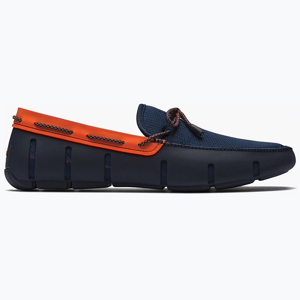 LACE FRONT LOAFER - NAVY/ORANGE SPARKLE