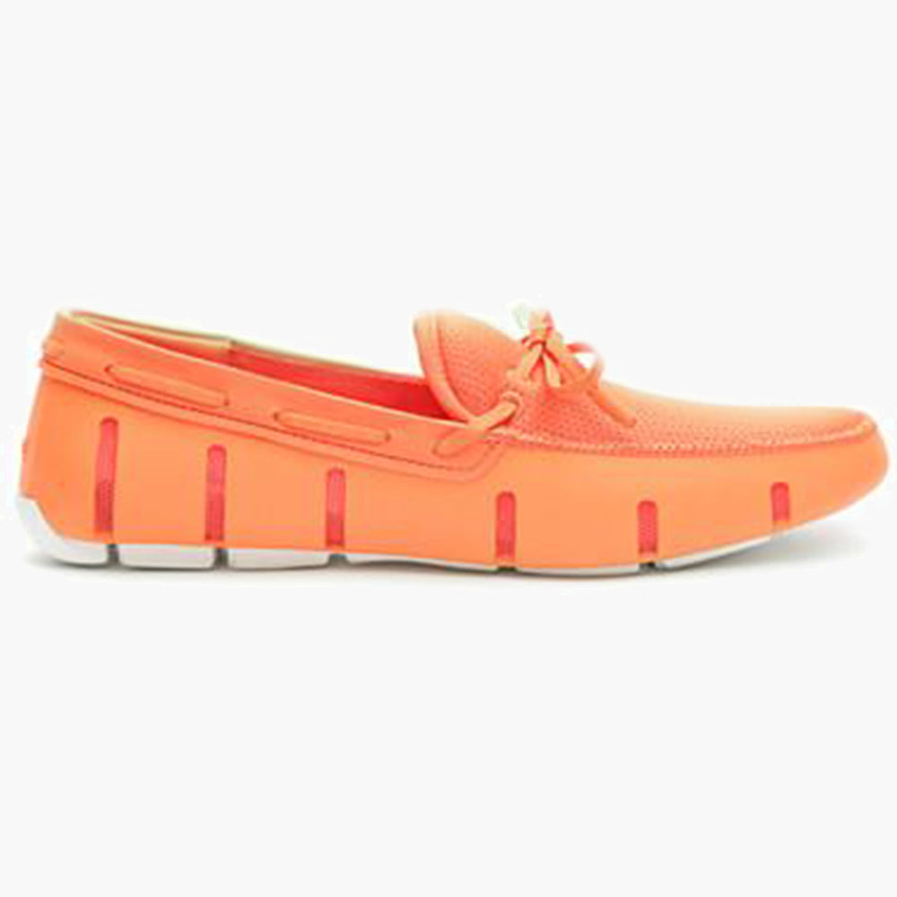 EL LACE FRONT LOAFER-ORANGE/WHITE