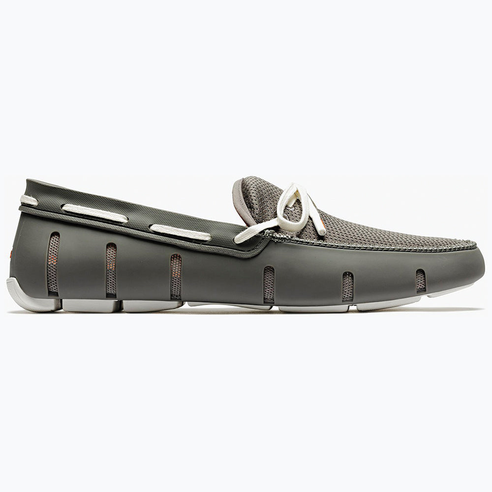 LACE FRONT LOAFER - GREY/WHITE