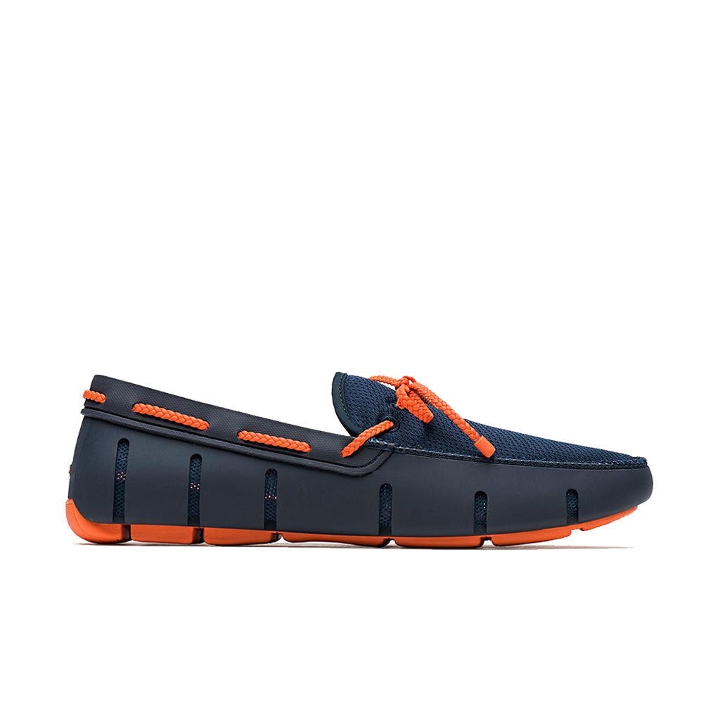 BRAID LACE LOAFER-NAVY/ORANGE