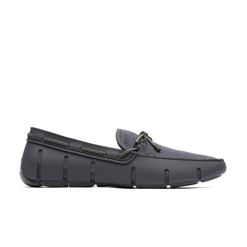 BRAID LACE LOAFER-DK GRAY/OLIVE