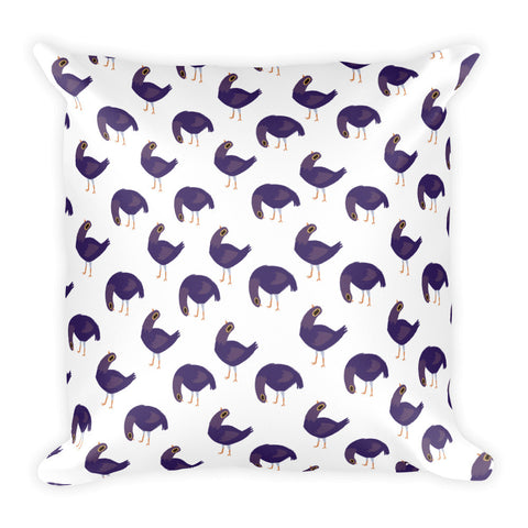 Trash Doves FLOPPY DOVE Square Pillow