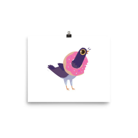 Trash Doves DONUT DOVE Matte Poster