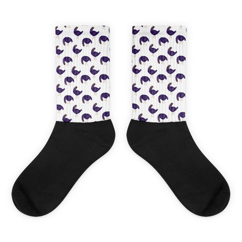 Trash Doves FLOPPY DOVE Black foot socks