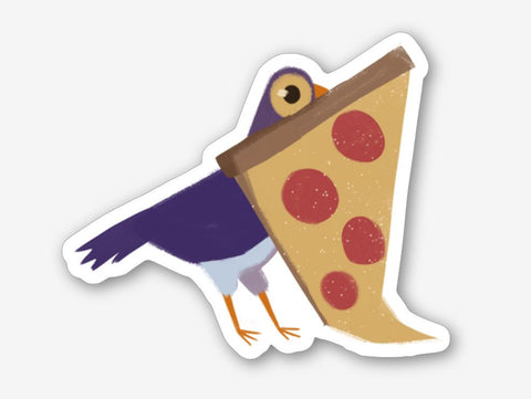 PIZZA DOVE 3.5 Inch Glossy Vinyl Sticker