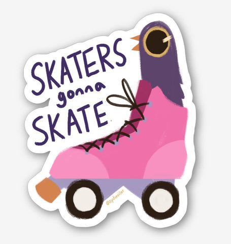 "SKATER DOVE 3.5"" Glossy Vinyl Sticker"