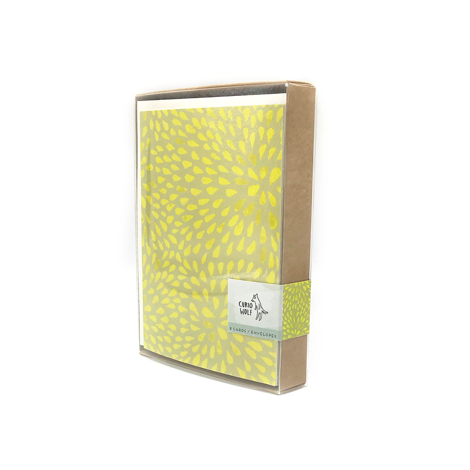 Petals Blank Note Cards: Yellow