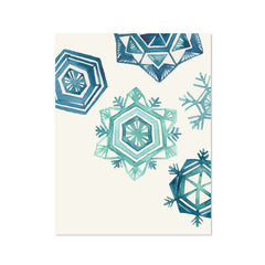 Holiday Snowflakes Greeting Card