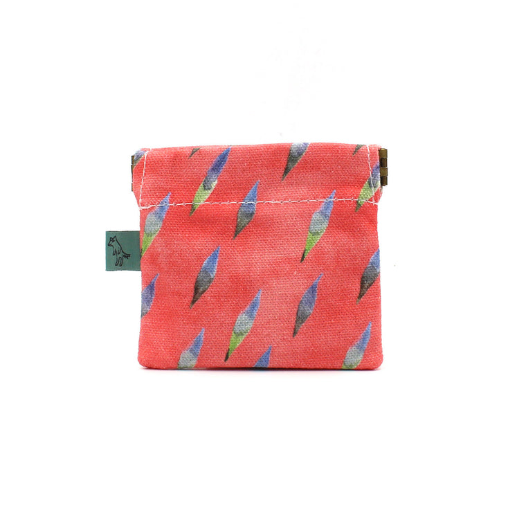 Brushy Coin Pouch: Coral