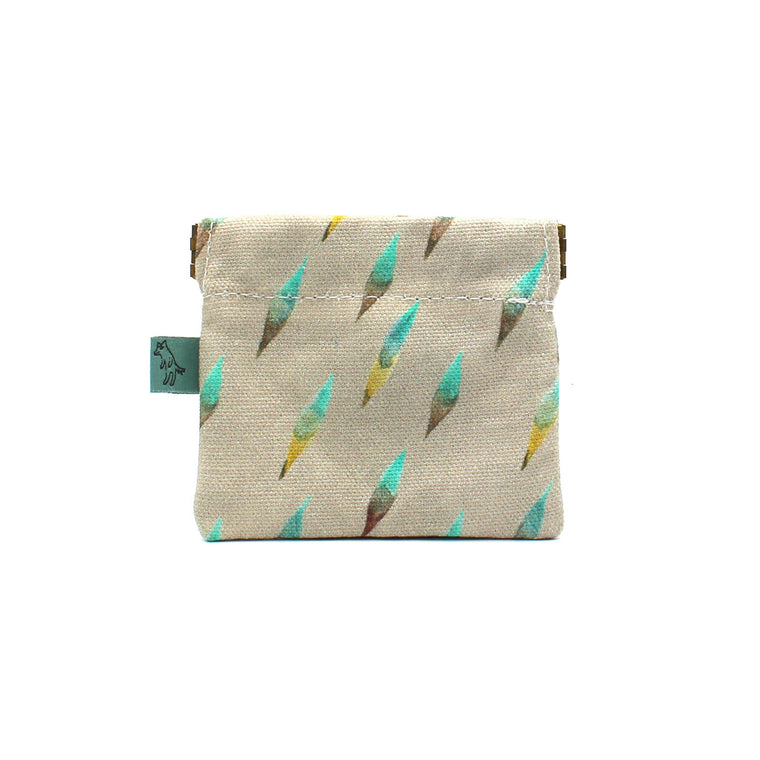 Brushy Coin Pouch: Gray