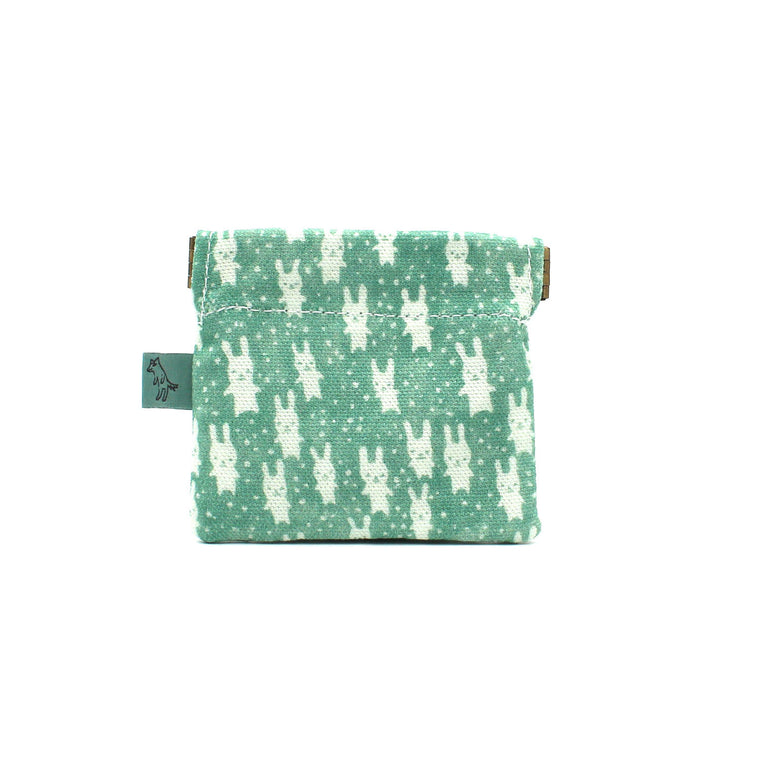 Bunnies Coin Pouch: Teal