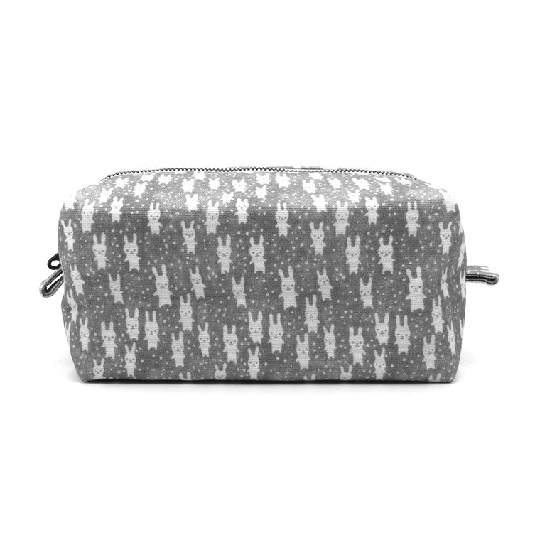 Bunnies Dopp Kit: Gray