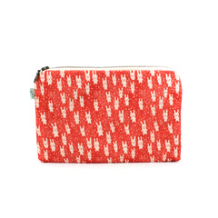 Bunnies Flat Pouch: Red