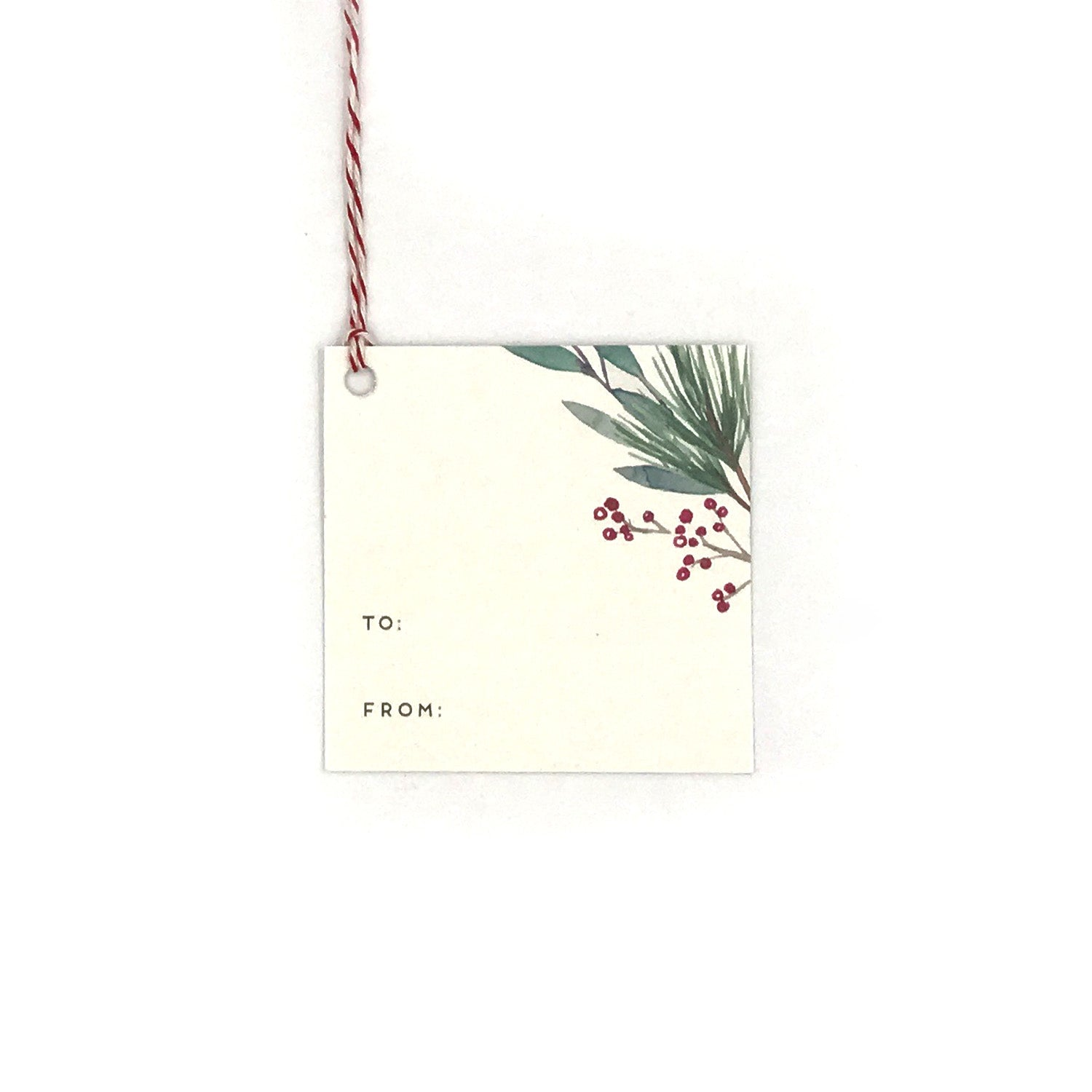 Holiday Leaves Gift Tag