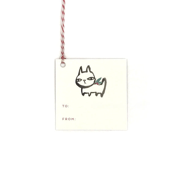 Holiday Rufus Gift Tag
