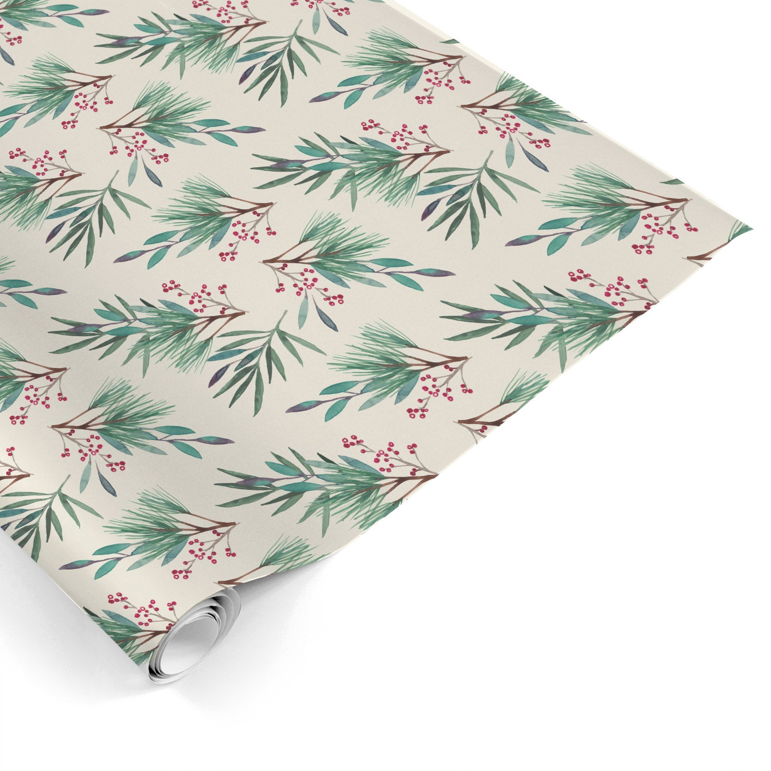 Holiday Leaves Gift Wrap