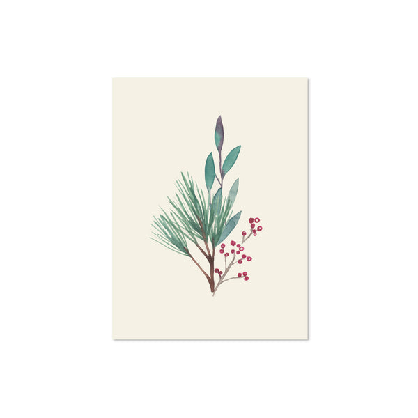 Holiday Leaves Blank Note Cards