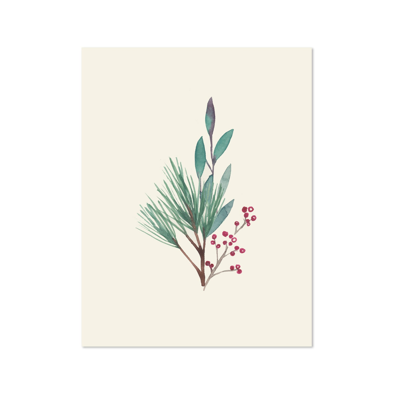 Holiday Leaves Greeting Card