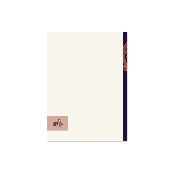 Snowflakes Blank Note Cards: Plum