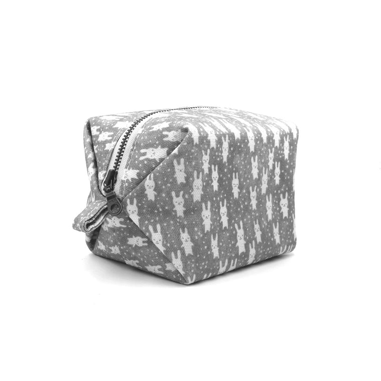 Bunnies Tuff Puff Pouch: Gray