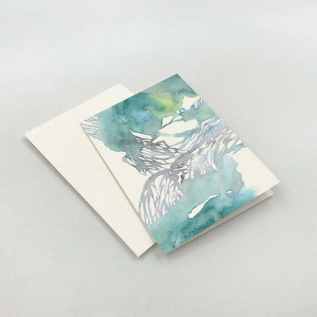 Waves Folded Note Cards 1