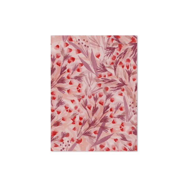 Winter Floral Blank Note Cards: Red