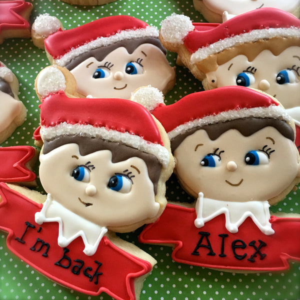 Elf On the Shelf Cookies - 12/1