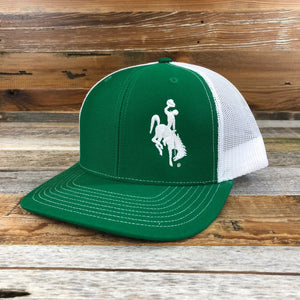 1890 Bucking Horse Snapback Hat- Kelly Green