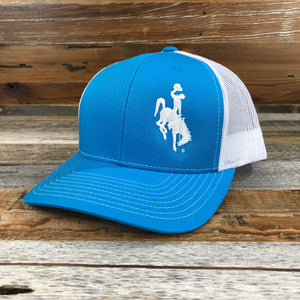1890 Bucking Horse Snapback Hat- Sky Blue