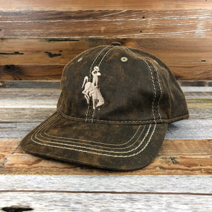 1890 Bucking Horse Hat- All Over Leather