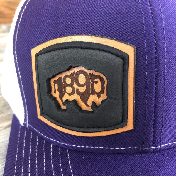 Foam Patch Snapback Hat- Purple