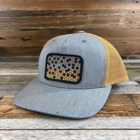 1890 Hex Cutthroat Patch Hat- Heather Grey/Amber