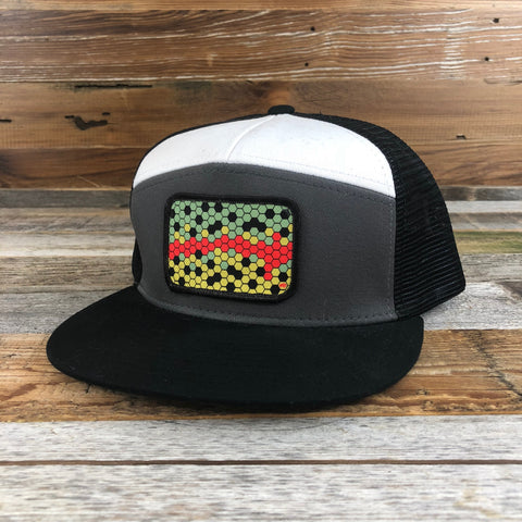 1890 Hex Cutthroat Patch Hat- Black/Grey/White