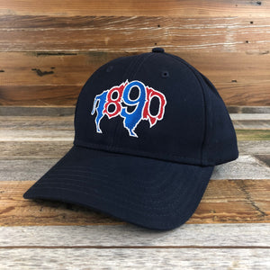 1890 Buffalo Hat- Navy/RWB