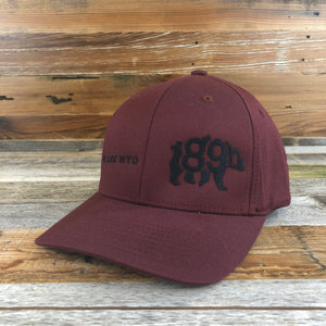 We Are WYO Flex-Fit Hat- Burgundy/Black