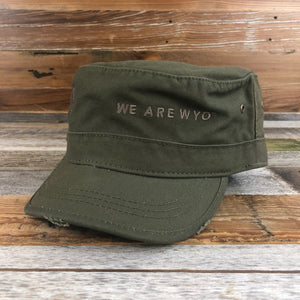 We Are Wyo Military Cap- Military Green