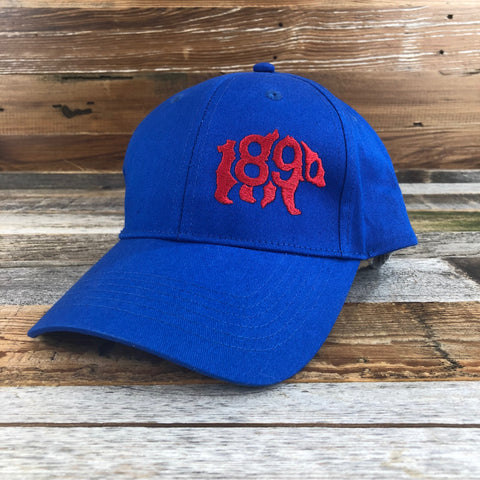 1890 Bear Hat- Royal Blue/Red