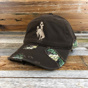 1890 Bucking Horse Hat- Camo/Destroy