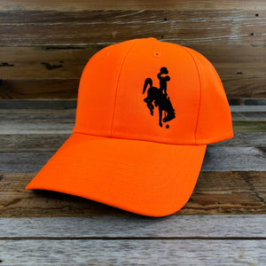 1890 Bucking Horse Hat- Blaze Orange