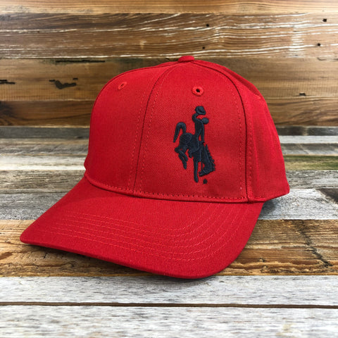 1890 Bucking Horse Hat- Cardinal Red