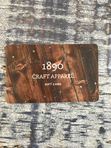 1890 Craft Apparel Gift Card