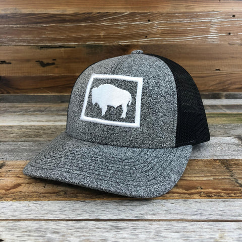 Buffalo Snapback Hat- Salt & Pepper