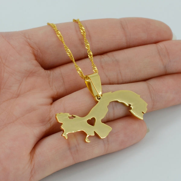 Country map jewelry world shop spot 14k gold plated panama map pendant necklace gumiabroncs Choice Image