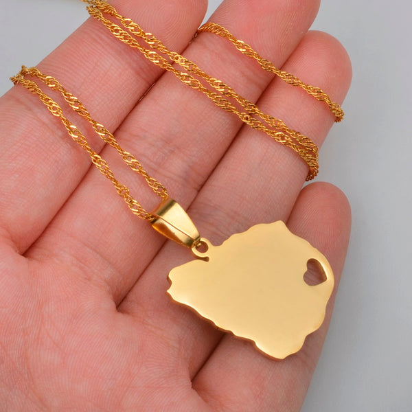 Country map jewelry page 12 world shop spot 14k gold plated uruguay map pendant necklace gumiabroncs Choice Image