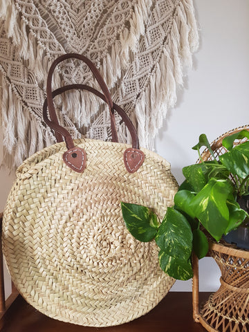 Moroccan Basket bag round