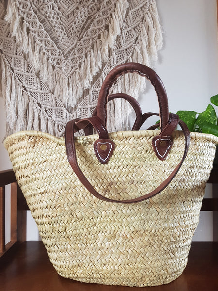 Moroccan Traditional French Market Basket (Double Handle)