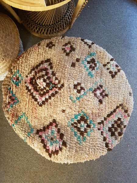 Moroccan Vintage Round Pouffe