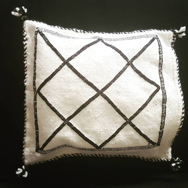 Moroccan Traditional Plain Berber Pillow Cushion Cover (Large)