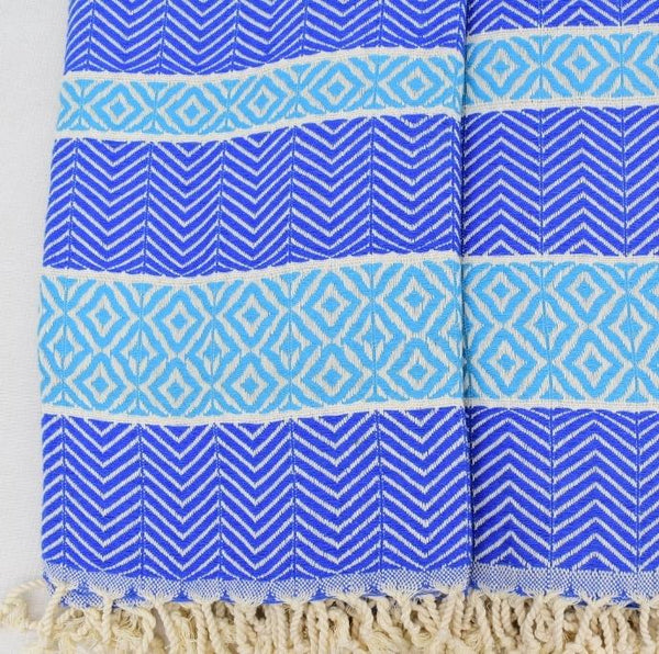 Premium Turkish Throw - Blue II